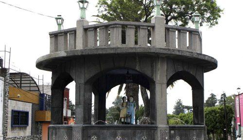 Fuente de los Muñecos en el barrio de Xonaca